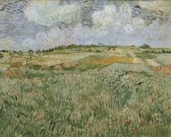 """Vincent van Gogh """"Die Ebene bei Auvers mit Regenwolken"""", 73,5 x 92 cm"""