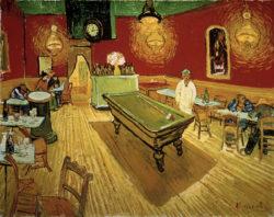 "Vincent van Gogh ""Das Nachtcafé an der Place Lamartine in Arles"" 70 x 89 cm"