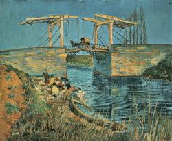 """Vincent van Gogh """"Die Bruecke von Langlois in Arles mit Waescherinnen"""" 54 x 65 cm"""