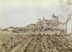 "Vincent van Gogh ""Blick auf Saintes-Maries"", 43 x 60 cm"