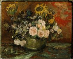 """Vincent van Gogh """"Rosen und Sonnenblumen"""", 50 x 61 cm"""