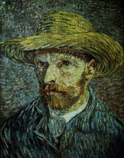 """Vincent van Gogh """"Selbstbildnis mit Strohhut"""" 40,6 x 31,8 cm"""