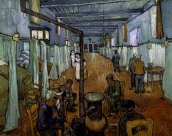 "Vincent van Gogh ""Schlafsaal im Hospital in Arles"". 74 x 92 cm"