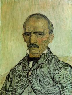 """Vincent van Gogh """"Bildnis des Oberaufsehers Trabuc im Hospital Saint-Paul"""" (Charles Elzéard Trabuc; 61 x 46 cm"""