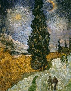 "Vincent van Gogh ""Zypresse gegen den Sternenhimmel"", 92 x 73 cm"