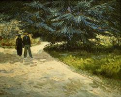 """Vincent van Gogh """"Paar im Park von Arles: Der Garten des Dichters III."""" 73 x 92 cm"""