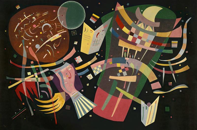 "Wassily Kandinsky ""Komposition"" 195 x 130 cm"