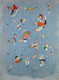 "Wassily Kandinsky ""Himmelblau"" 73 x 100 cm"