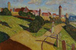 """Wassily Kandinsky """"Alte Stadt"""" 78 x 52 cm"""