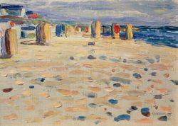"Wassily Kandinsky ""Holland Strandkörbe"" 33 x 24 cm"