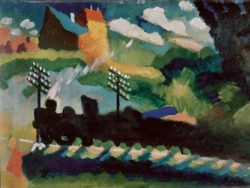 "Wassily Kandinsky ""Eisenbahn Bei Murnau"" 49 x 36 cm"