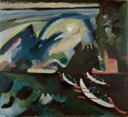 """Wassily Kandinsky """"Kahnfahrt See"""" 105 x 98 cm"""