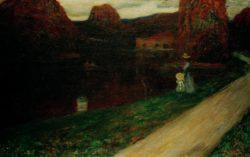 """Wassily Kandinsky """"Der Abend"""" 100 x 64 cm"""