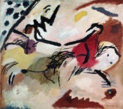"Wassily Kandinsky ""Improvisation Pferde"" 108 x 94 cm"