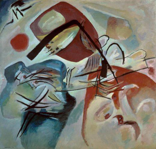 """Wassily Kandinsky """"Mit Dem Schwarzen Bogen"""" 198 x 188 cm 1"""