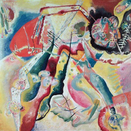 "Wassily Kandinsky ""Roter Fleck"" 130 x 130 cm 1"