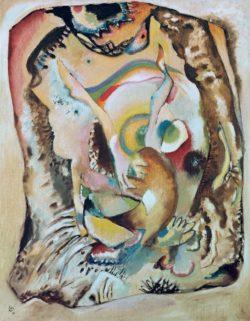 """Wassily Kandinsky """"Bild Auf Dem Hellen Grund"""" 78 x 100 cm"""