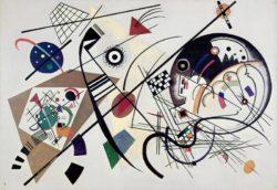 """Wassily Kandinsky """"Durchgehender Strich"""" 201 x 140 cm"""