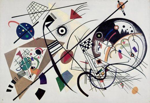 """Wassily Kandinsky """"Durchgehender Strich"""" 201 x 140 cm 1"""