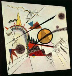 """Wassily Kandinsky """"Im Schwarzenereck"""" 93 x 97 cm"""