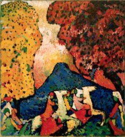 "Wassily Kandinsky ""Der Blaue Berg"" 96 x 106 cm"