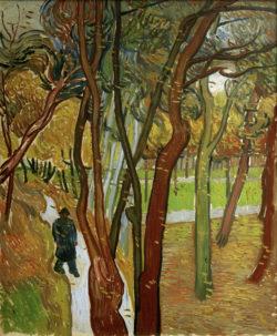 """Vincent van Gogh """"Spaziergaenger im Park mit fallenden Blaettern"""" 73,5 x 60 cm"""