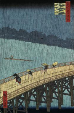 """Vincent van Gogh """"Ohashi Atake no Yudachi"""" (Ohashi Bruecke im Regen) 39 x 26 cm"""