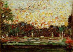 "Wassily Kandinsky ""Große Fontäne Im Nymphenburger Park"" 18 x 13 cm"