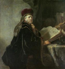 """Rembrandt """"Ein-Gelehrter-im-Studierzimmer"""" 73 x 94 cm"""