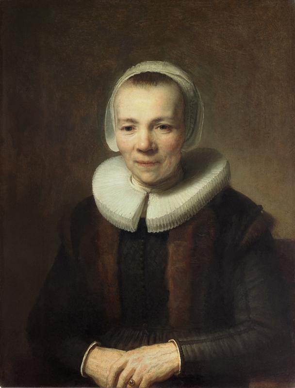 "Rembrandt ""Bildnis-der-Baertje-Martens"" 21.7 x 17.3 cm"