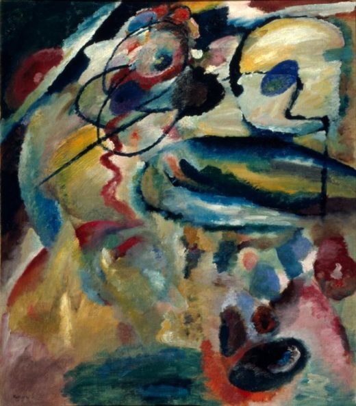 """Wassily Kandinsky """"Erstes Gegenstandsloses Bild Mit Kreis"""" 120 x 137 cm 1"""