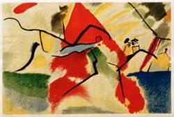 """Wassily Kandinsky """"Impression"""" 56 x 37 cm"""