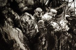"Rembrandt ""Kreuzigung"" 38.7 x 45 cm"