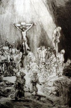 "Rembrandt ""Kreuzigung"" 94 x 67 cm"
