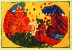"Wassily Kandinsky ""Berge"" 26 x 19 cm"