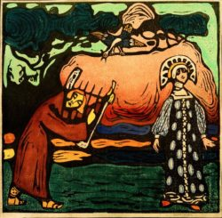 "Wassily Kandinsky ""Dulcimerspieler"" 19 x 19 cm"