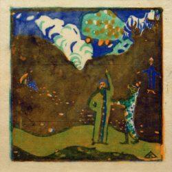 """Wassily Kandinsky """"Apfelbaum"""" 10 x 10 cm"""