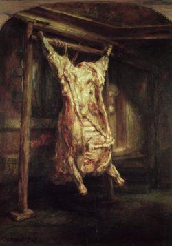 "Rembrandt ""Geschlachteter-Ochse"" 25 x 20.5 cm"