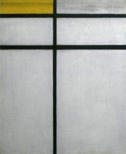 "Piet Mondrian ""Composition with yellow"" 61 x 50 cm"