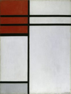 """Piet Mondrian """"Composition with Red"""" 43 x 33 cm"""
