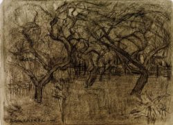 "Piet Mondrian ""Obstgarten"" 22 x 31 cm"