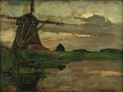 """Piet Mondrian """"Oostzijder Mühle"""" 34 x 44 cm"""