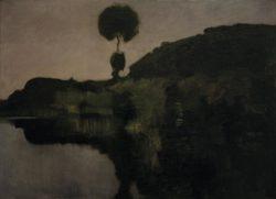 "Piet Mondrian ""Evening on the Gein with isolated Tree"" 65 x 86 cm"
