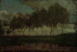 """Piet Mondrian """"Das Gein Bäume am Wasser"""" 45 x 66 cm"""