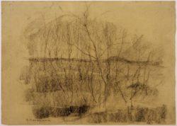 """Piet Mondrian """"Landschaft mit Bäumen"""" 33 x 47 cm"""