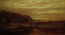 """Piet Mondrian """"Abendlandschaft am Gein"""" 76 x 135 cm"""