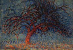 """Piet Mondrian """"Der rote Baum"""" 75 x 99 cm"""