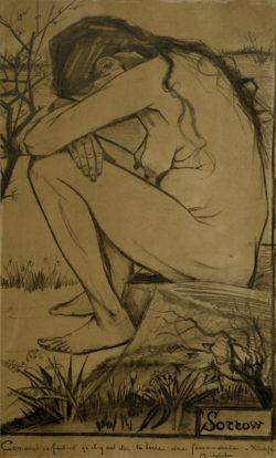 """Vincent van Gogh """"Sorrow"""" 44,5 x 27 cm"""