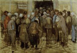 """Vincent van Gogh """"Die Armen und das Geld"""" 37,9 x 56,6 cm"""