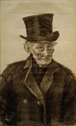 """Vincent van Gogh """"Alter Mann mit Zylinder"""" 60 x 36 cm"""
